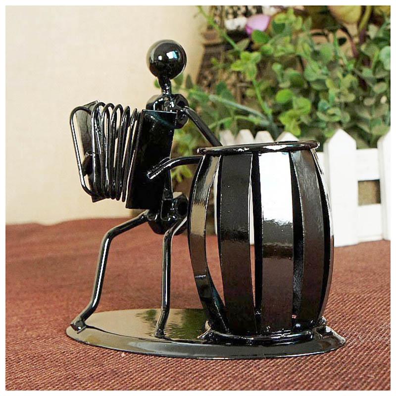 metal Pen holder Vase Pencil Pot Stationery Desk Tidy ...