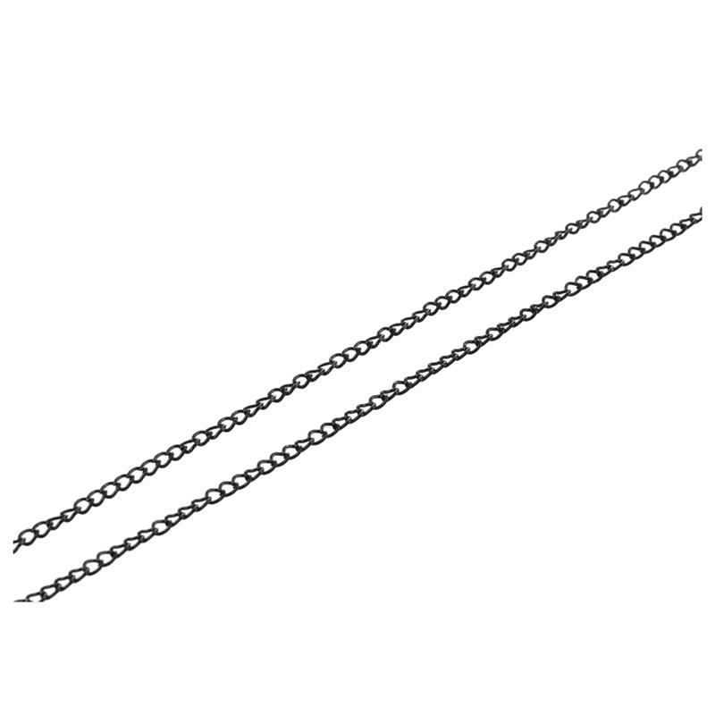 Gliederkette-Kette-Metallkette-Schwarz-Basteln-5-Meter-TOP-U1U8 Indexbild 4