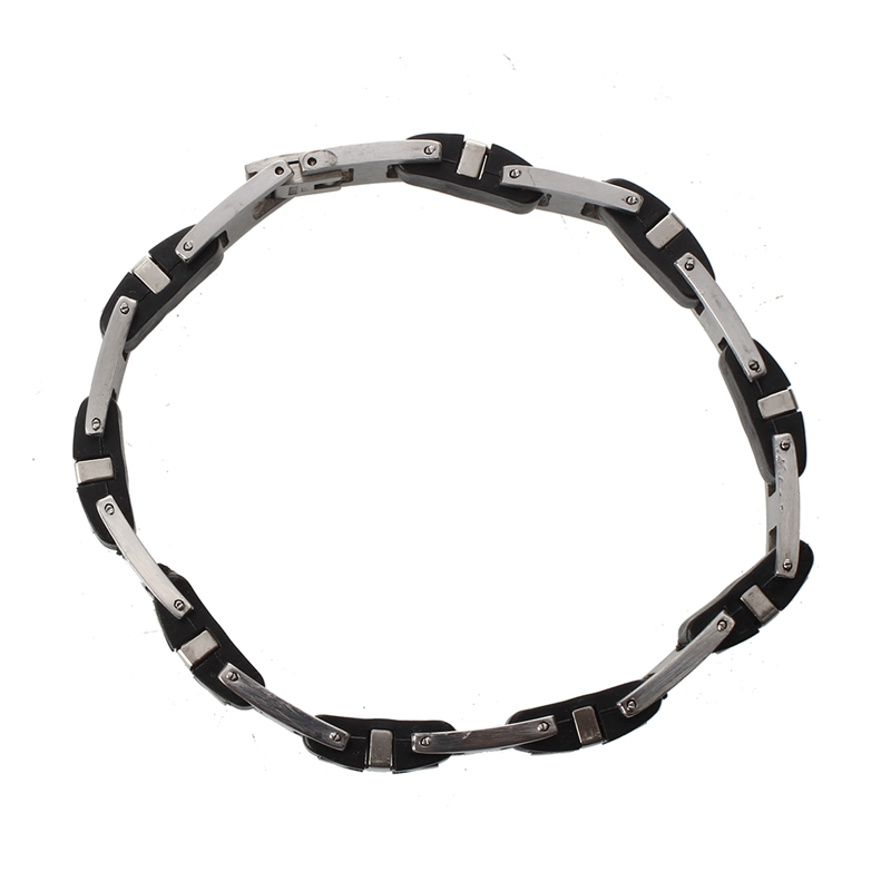 12mm-Herren-Edelstahl-Armband-Kreuz-Armkette-Armreif-TOP Indexbild 3