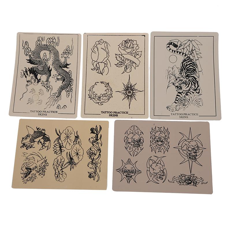 10-x-Peau-Factice-Synthetique-Exercice-pour-Machine-Tatouage-Tattoo-Q7C4