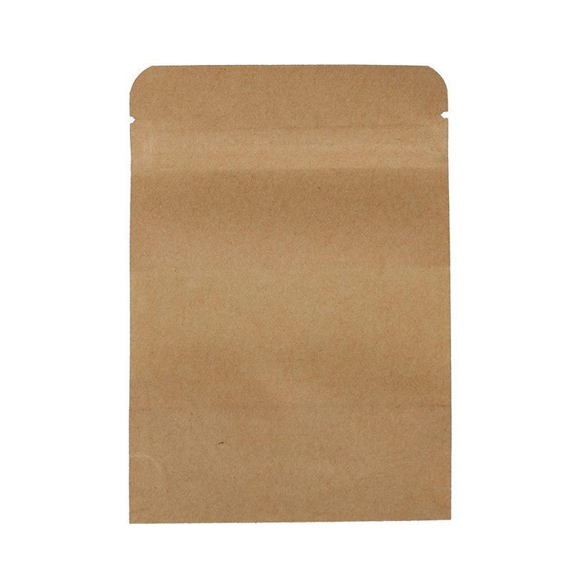 10-Pcs-de-Bolsa-de-papel-de-Kraft-de-Cierre-de-Ziplock-para-Dulce-Semillas-T6H0