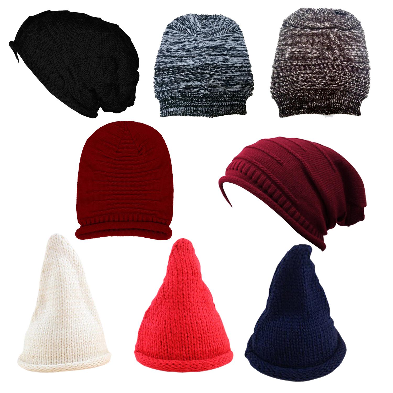 a995a9fa1 La imagen se está cargando Sombreros-invierno-Gorro-sombrero-punto -lana-mujer-Sombrero-