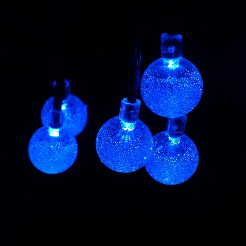 20 LED 4.8M Crystal Ball Solar Powered Outdoor Fairy String Lights for Garden Y7