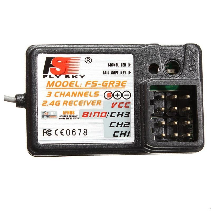 FlySky FS-GR3E 3CH 2.4 GHz Empfaenger GT2 GT3 GT3B GT3C GR3C RC Auto Boot J7Y4