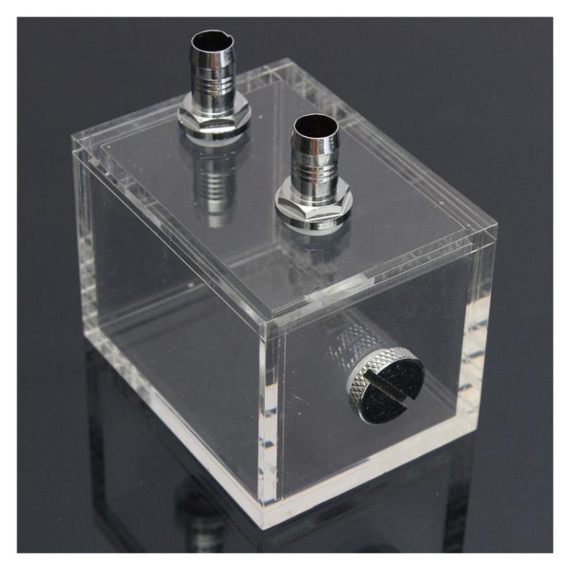 New 200ml Acrylic water tank cooler water cooling radiator pc cpu water blo P2U5