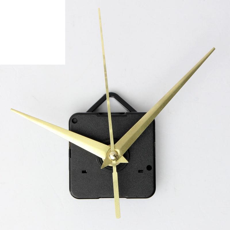 2pcs conjunto de parte reparacion DIY mecanismo movimiento reloj cuarzo negro9T3