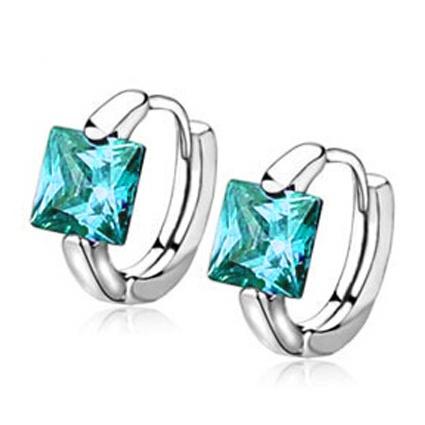 Mode-en-Plaque-Argent-bijoux-de-pierre-CZ-pour-femmes-boucles-d-039-oreilles-avec-ce