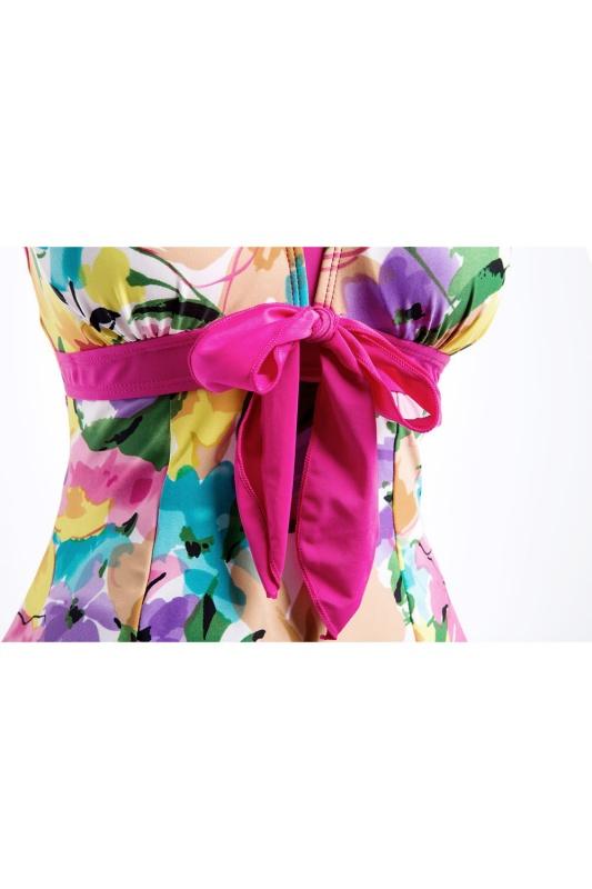 Women/'s Swimwear Bathing Suit Push Up Swimsuit One Piece Swim dress XL-5XL Q6S5