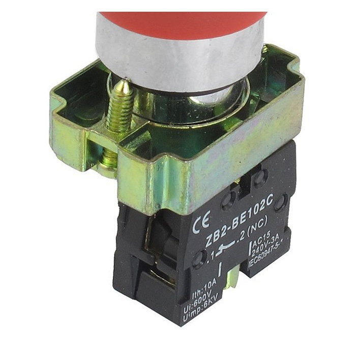 22mm NC Roter Pilz Not-Aus Drucktastenschalter 600V 10A DK W7Z4