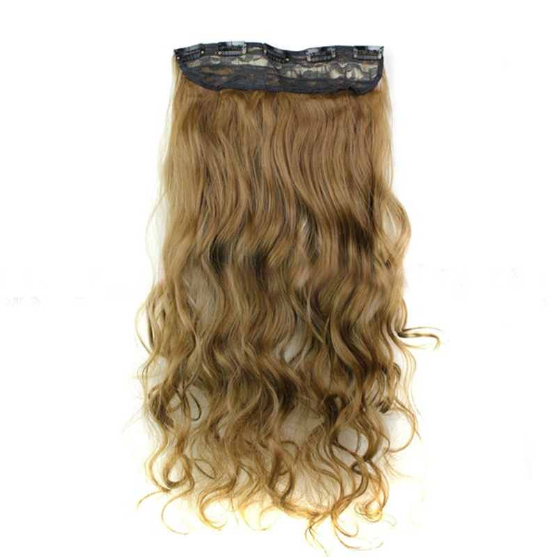 Clip In Hair Extensions Hairpiece 24inch 60cm 120g Curly Wavy Hair