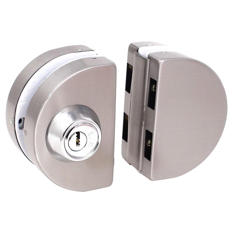 Entry Gate 10 12mm Glass Swing Push Sliding Door Lock With Keys P1g8
