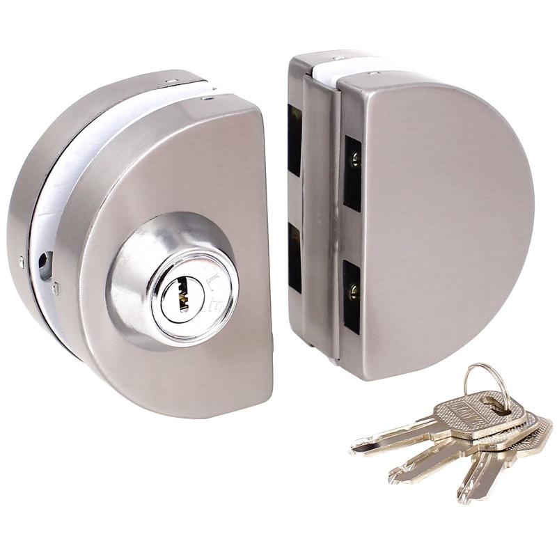 Serrure en verre de porte coulissante d/'oscillation de la porte 10-12mm L2F1 1X
