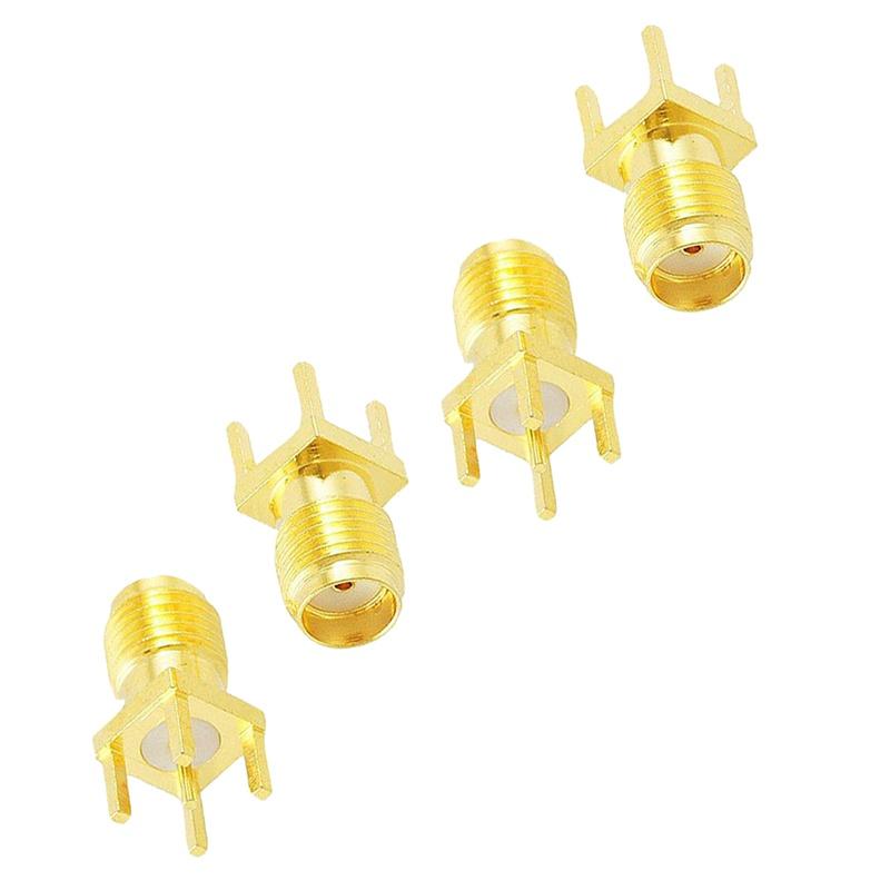 10-Pcs-Adaptateur-de-RF-Connecteur-droit-femelle-SMA-de-montage-de-PCB-de-Fin-La