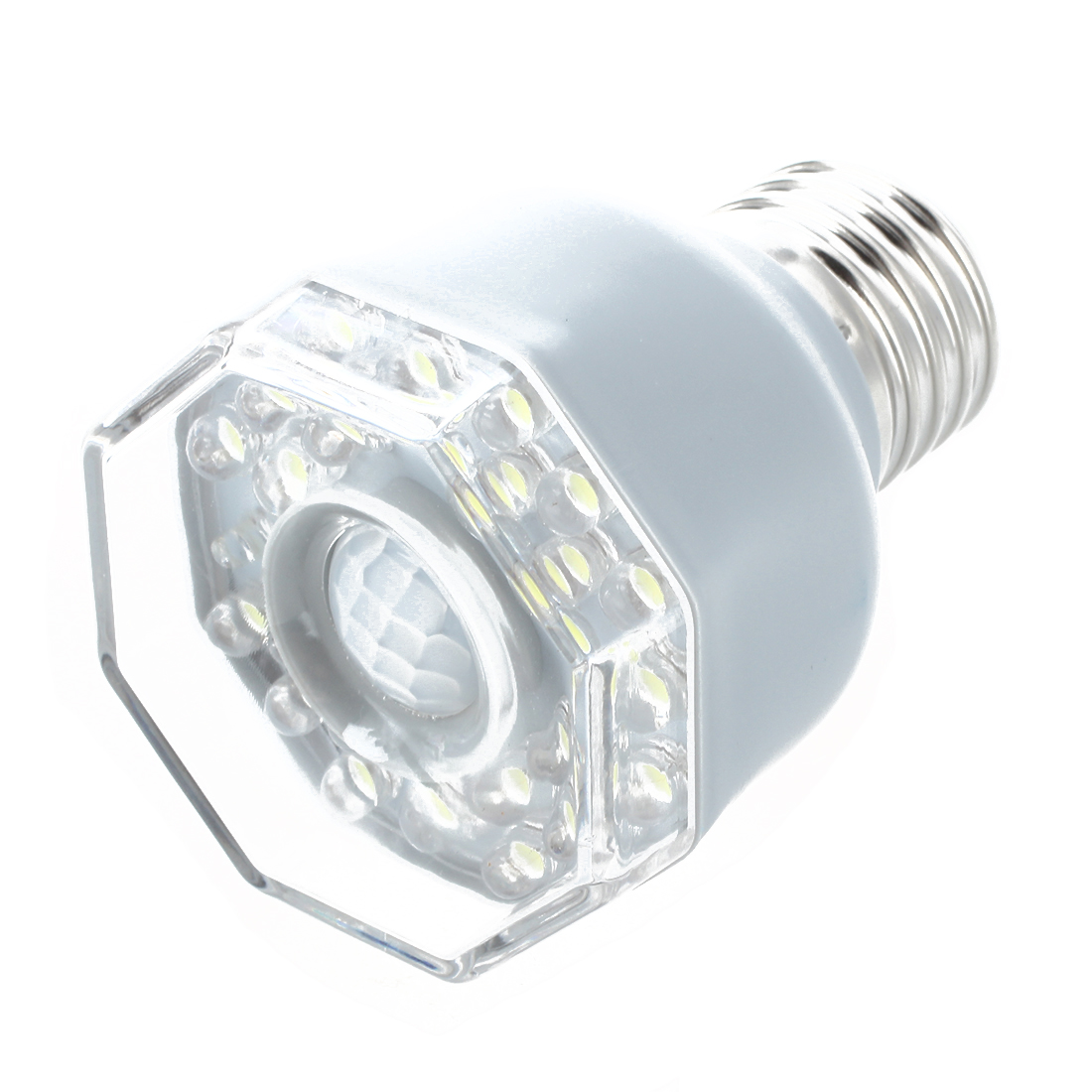 e27 24 led night light lamp motion sensor white h7h5 ebay. Black Bedroom Furniture Sets. Home Design Ideas