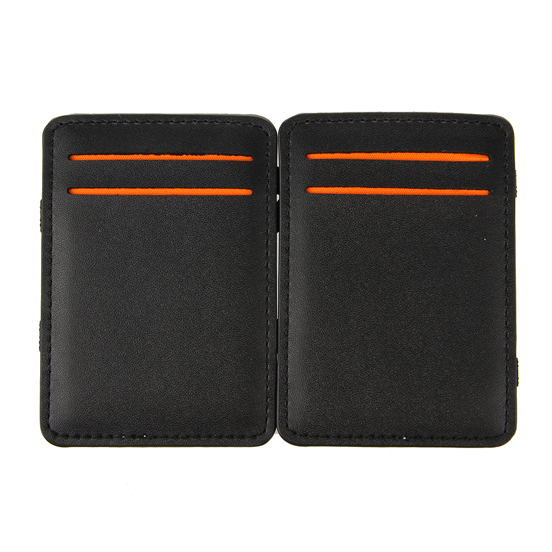 Mens-Magic-Flip-Wallet-Money-Clip-Bifold-Slim-Credit-Card-Holder-Purse-A7M7 thumbnail 4