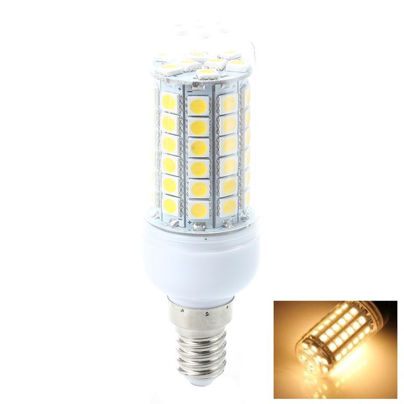 10X-E14-Warm-Weiss-69-LED-5050-SMD-8W-220V-AC-3000K-Leuchte-Lampe-Bir-R1J7