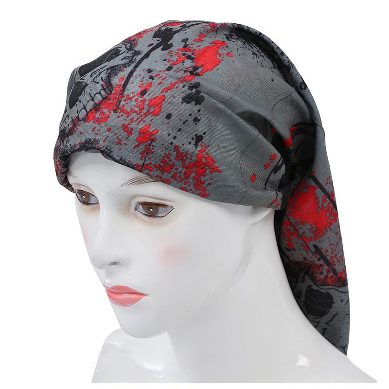 Multi Kopftuch Stirnband Schleier Kopfbedeckung Masken-Schwarz-Schaedel Rad W3G6