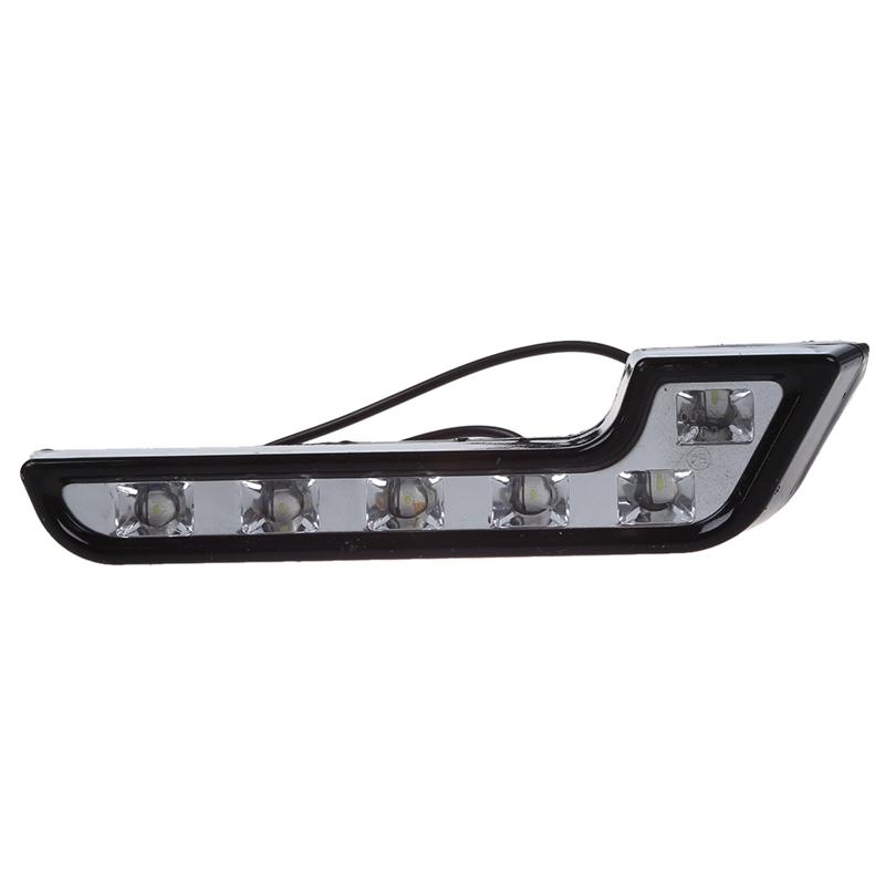 2x-LED-Feux-de-jour-KFZ-Feux-de-jour-Phares-antibrouillard-blanc-12V-18x4-3-I7O7