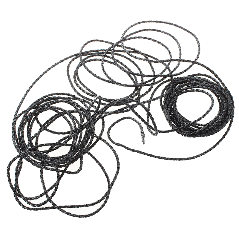 2X(Cordon de Cuero Tejido Negro para Collares Pulsura 3mm G5H9) FJ
