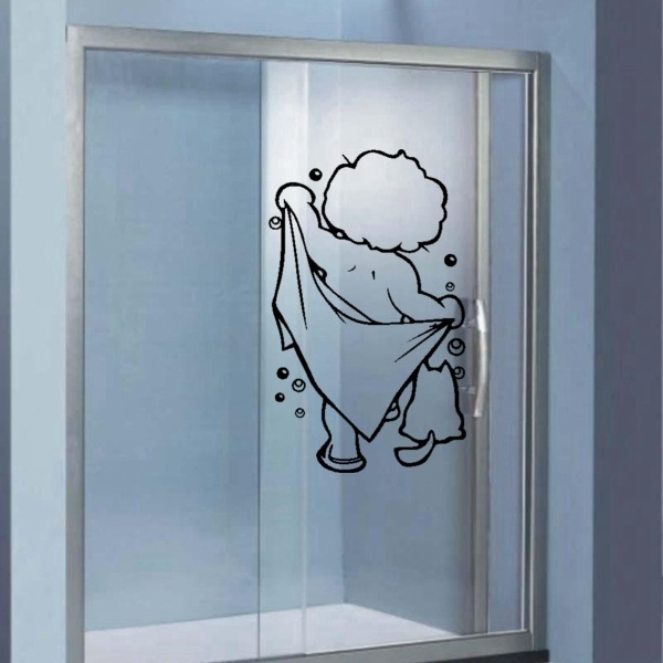 Kids Bath Shower Bubble Sticker Washroom Bathroom Wall Mural Decal ...