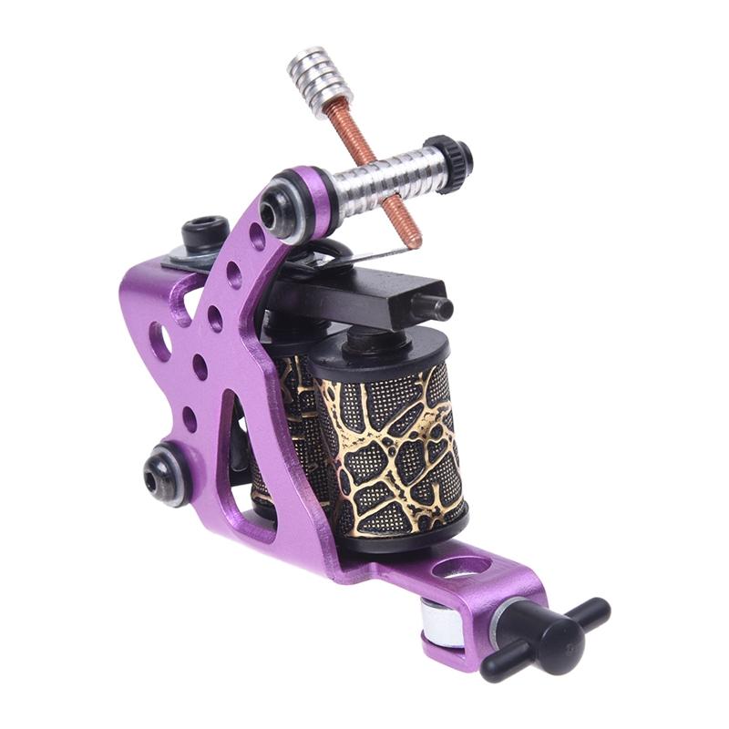 Pro lila Tattoo Maschinengewehr fuer Shader Liner 8 Wickelspulen P7E3