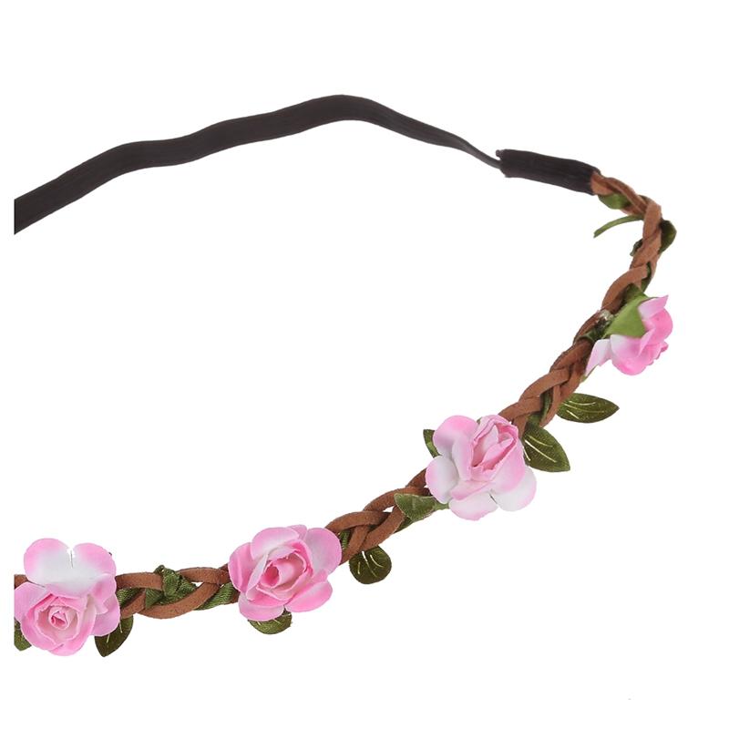 Dame Blumen Haarband Stirnband Festival Party Hochzeit rot L6O3