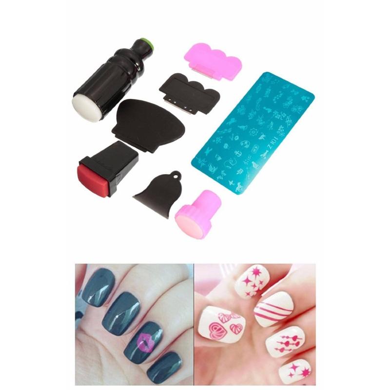 rubber stamp Kit Stamping Nail DIY Nail Art Image Raclette Nail ...