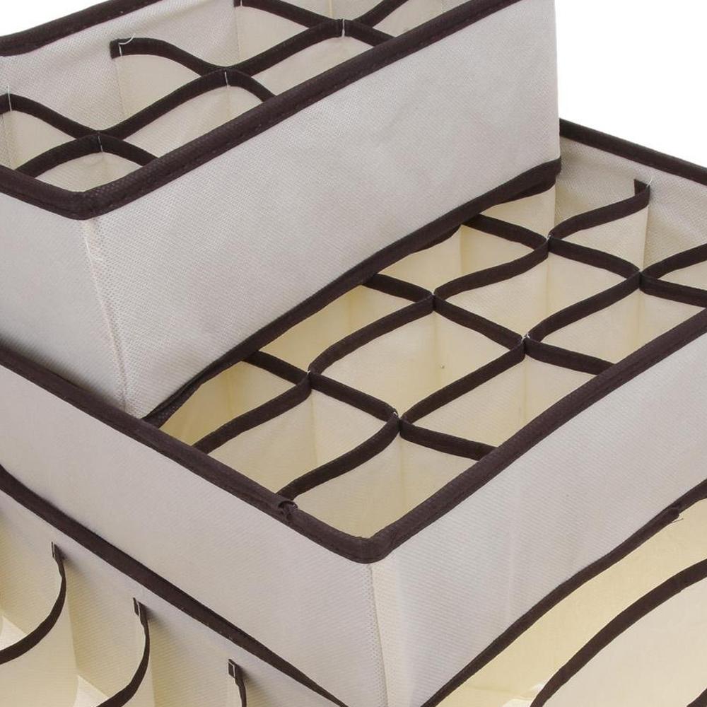 4 pcs boite de rangement pliable pour soutien gorge - Boite rangement sous vetement ...