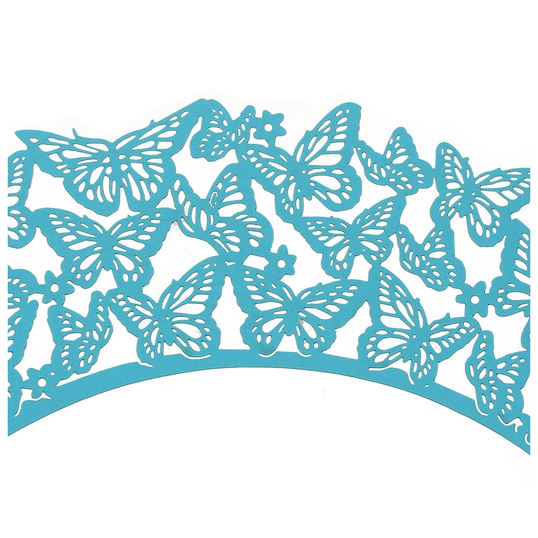 3X-25pcs-Diseno-original-de-Mariposas-Magdalena-Envolturas-Azul-Cielo-A3O8