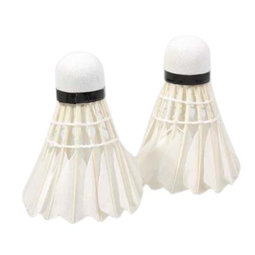 Leijiaere 5Pcs Ausbildung Weiss Regenerierend Kopf Entenfeder Badminton Fed X4Q5 Badminton Bälle