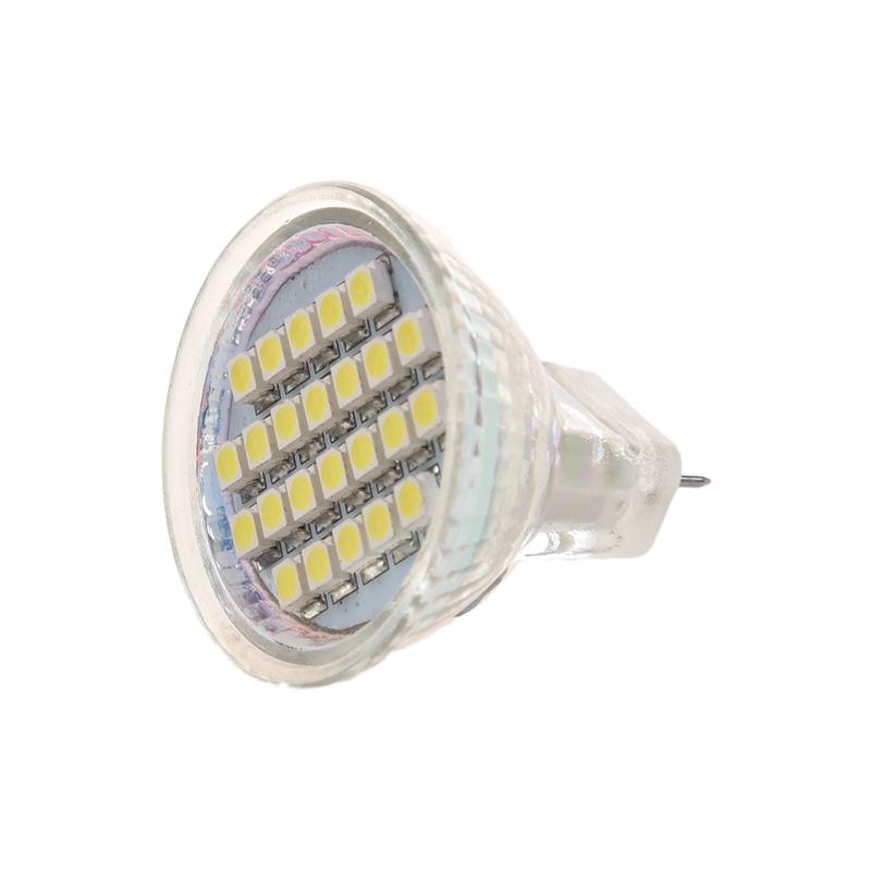 1.5W AC12V GU4 MR11 72 96LM LED Birne 24 LED 3528 SMD 1210 weisse ...