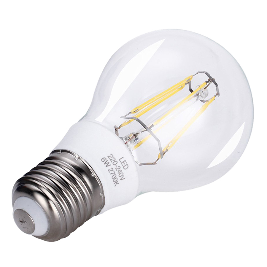 6w e27 led bulb led filament bulb equal to 60w incandescent bulb warm whit n6o6 ebay. Black Bedroom Furniture Sets. Home Design Ideas