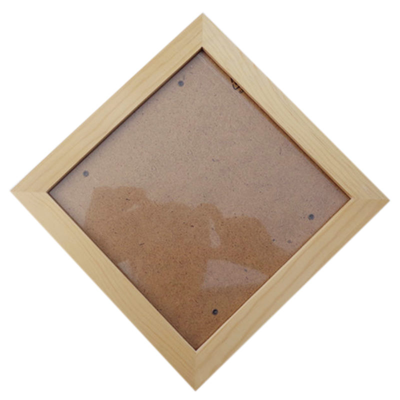 Square Thick Pine Wood Photo Frame Wall Picture Frame D3I2