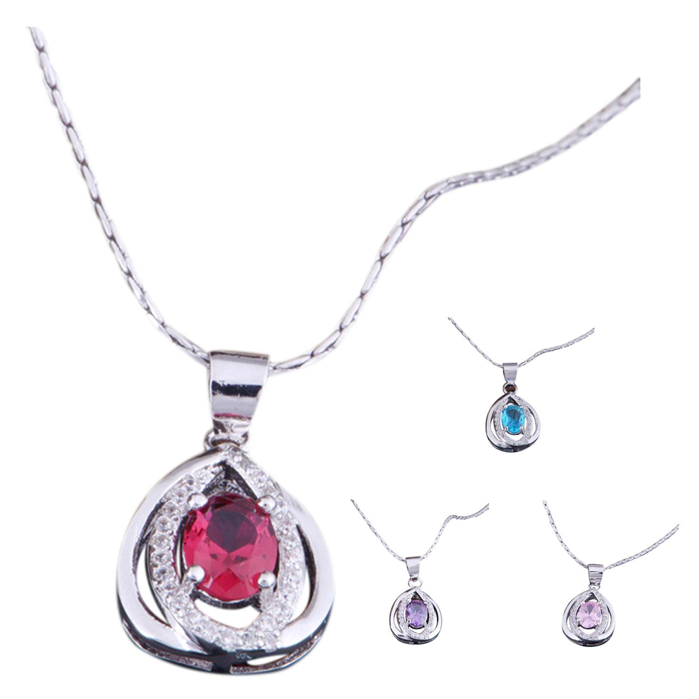 2X(Silver jewelry fine necklaces for pendants Sunlight Zircon P B ...