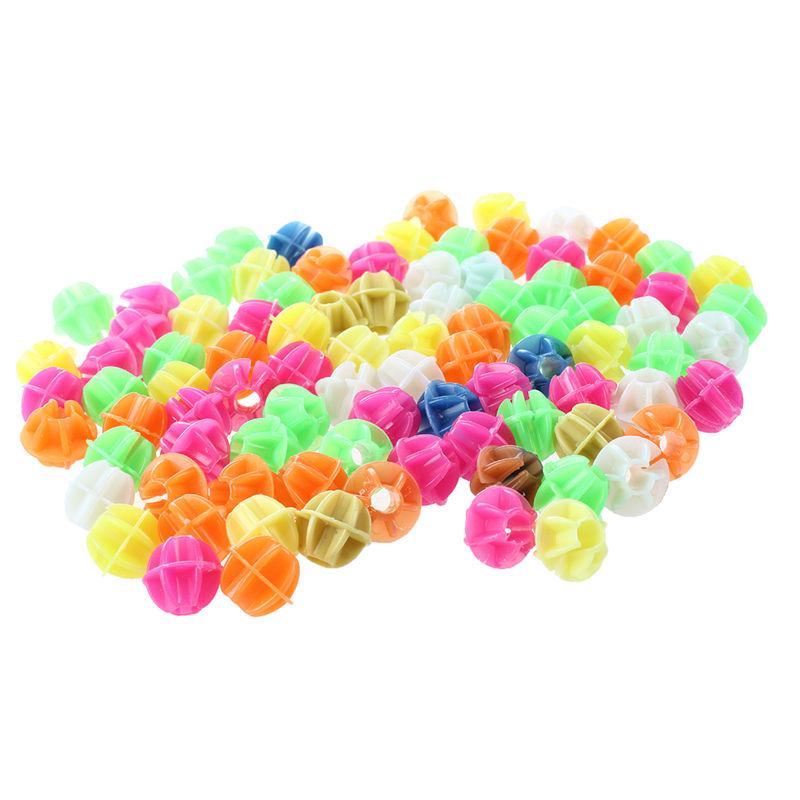10X(SODIAL(R) 2 sacs Plastique colore Pince Rayon bicyclette Perles Decor E4V2)