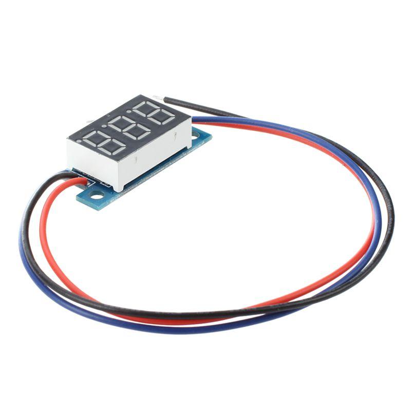 5X(Mini voltmetre d'affichage numerique a LED tension continue 3 - 200V F1U7)