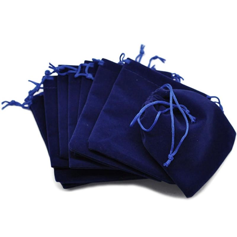 10-Pcs-Sachets-Pochettes-en-Velventine-12cm-x-10cm-pour-Mariage-Bijoux-C-Y7E8