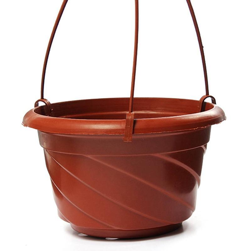 Hanging Flower Plant Pot Chain Basket Planter Holder Home Garden Balcony De W3Z8