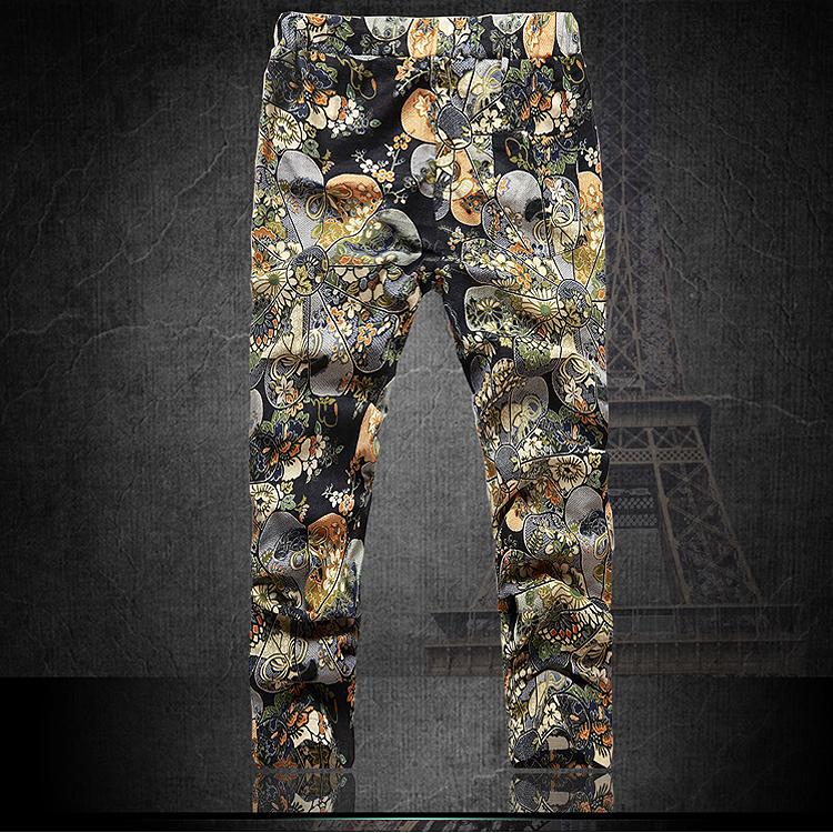 Summer-Men-s-Fashion-pants-Flower-print-slim-casual-Pattern-pants-men-Line-A1C3