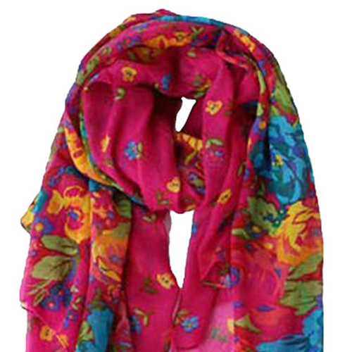 Frauen Fruehling Herbst Mode hell rosa weichen grossen langen Schal VintE9X7 1X