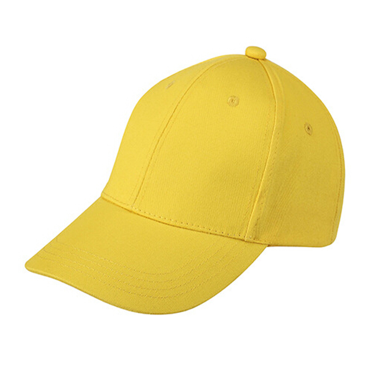 Plain Baseball Cap Girls Boys Junior Childrens Hat Summer-Yellow ... 8c7be396a3c0
