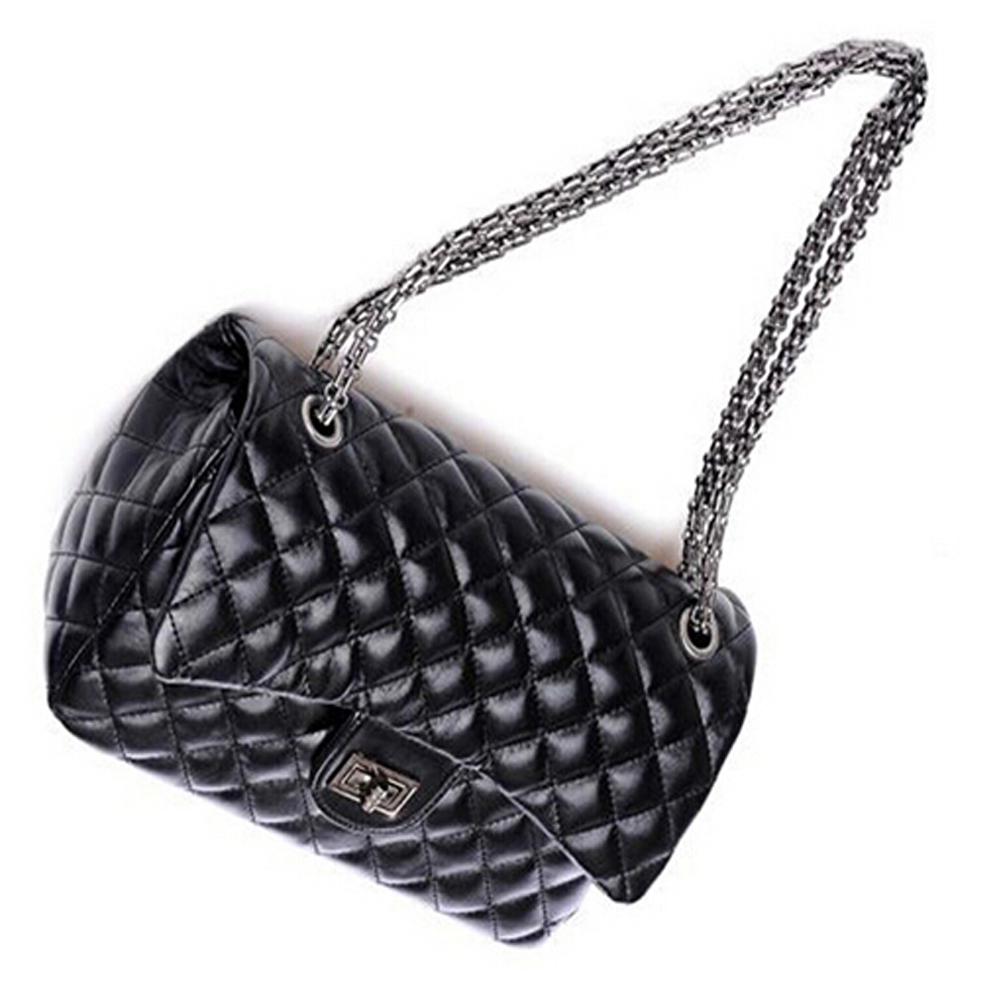 Quilted Chain Faux Leather Shoulder Bag Cross Body Handbag