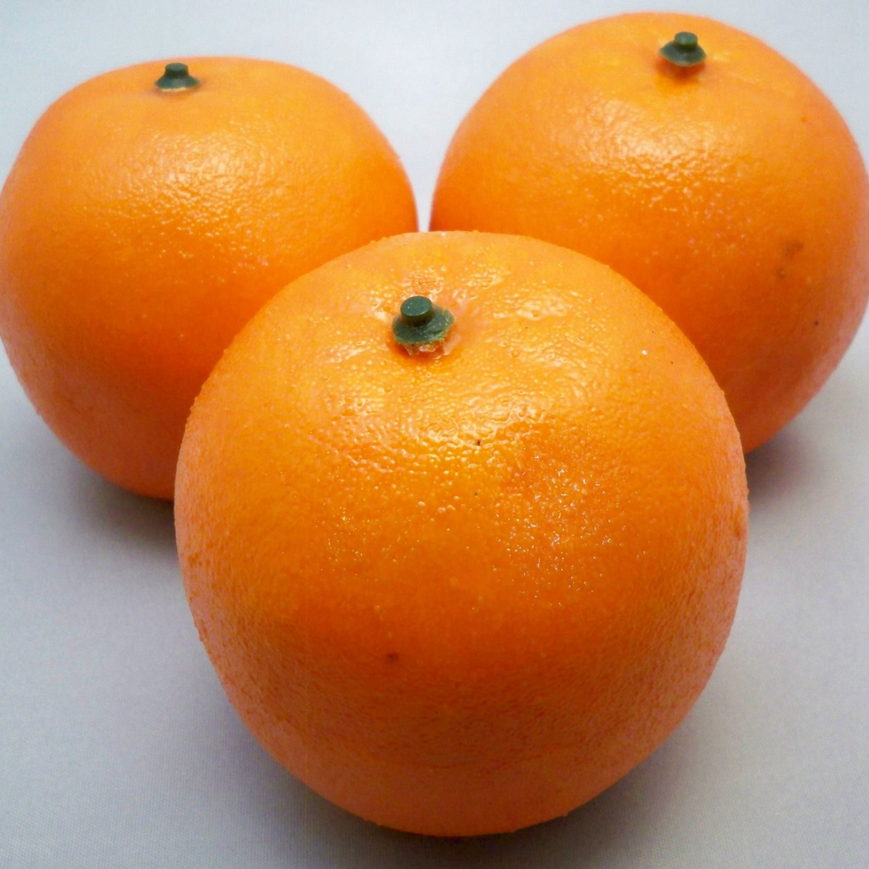 3 artificial oranges decorative fruit c3e1 n6s6 ebay for Artificial pears decoration