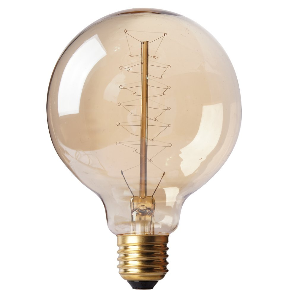 Ss filament light bulb tungsten light g95 40w spiral filament 220v Tungsten light bulbs