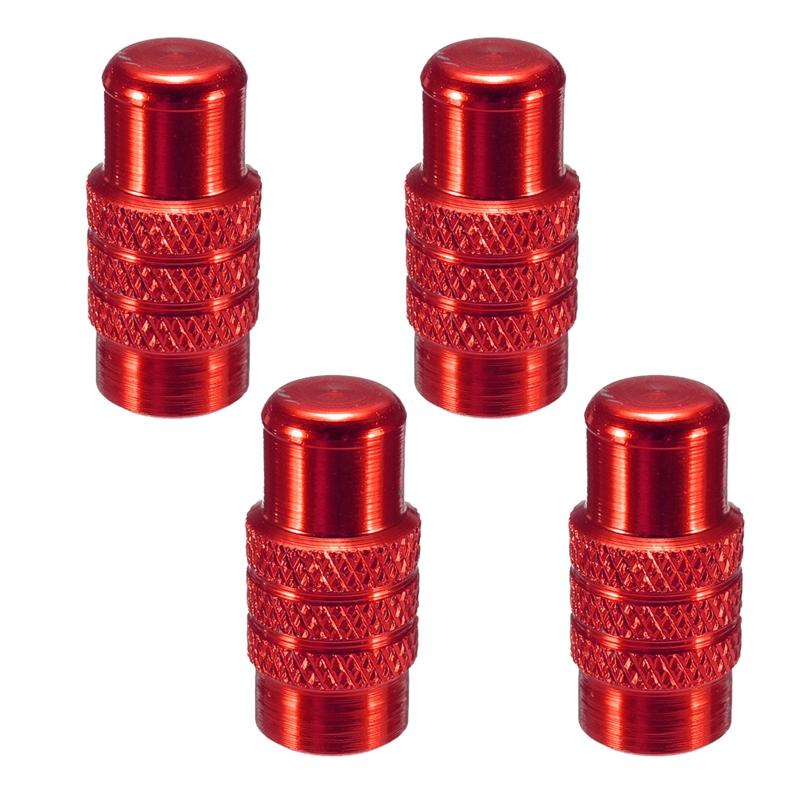 4x-Tapon-de-valvula-Presta-de-neumatico-rueda-de-bicicleta-de-aluminio-Cubierta miniatura 8