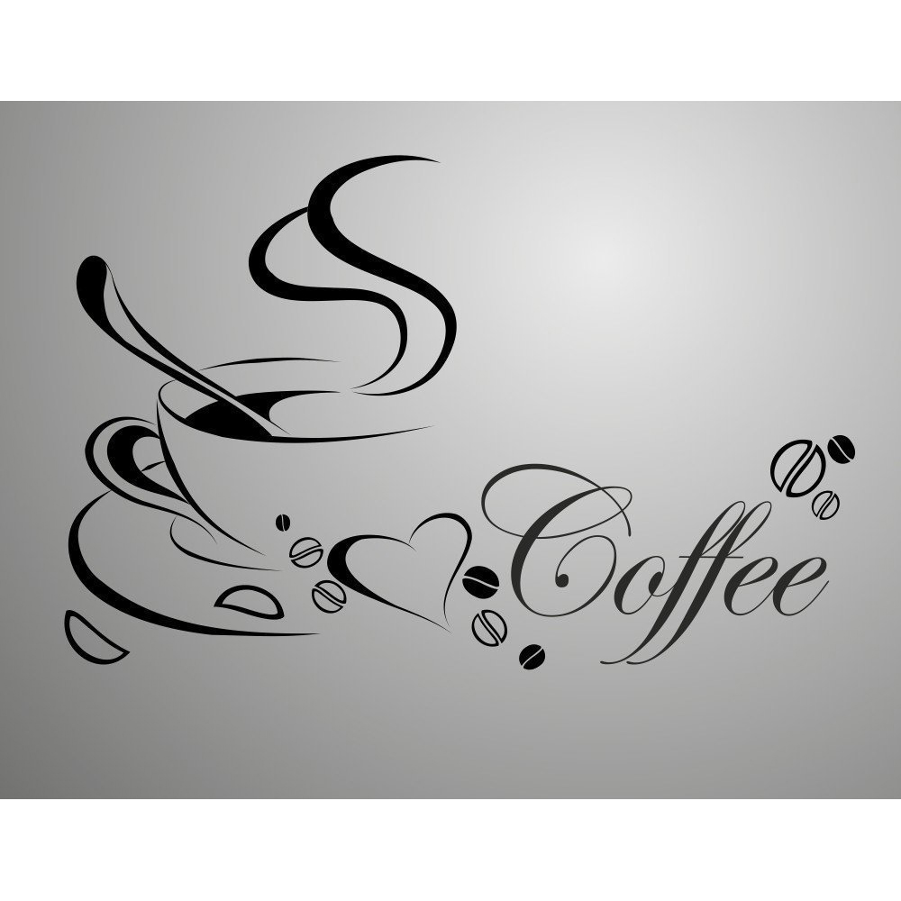 coffee cup pvc quote removable wall stickers diy wall art t1 ebay fashion word wall sticker theme characters feature 3d sticker style solid classification for wall pattern plane wall sticker size 60 40cm