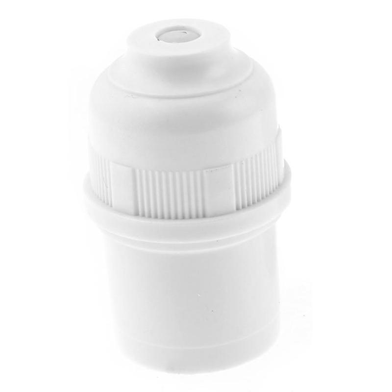 2-piezas-Adaptador-zocalo-bombilla-lampara-con-cubierta-blanco-plastico-E27-R5Z7