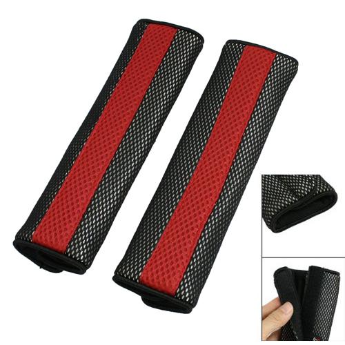 Almohadilla-cubierta-Cinturon-de-seguridad-negro-rojo-Sujetador-desmontable-S2S1