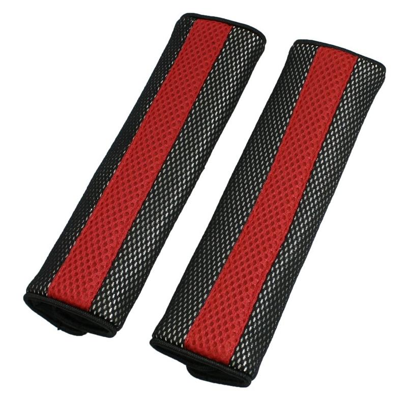 Almohadilla cubierta Cinturon de seguridad negro rojo Sujetador desmontable S2S1