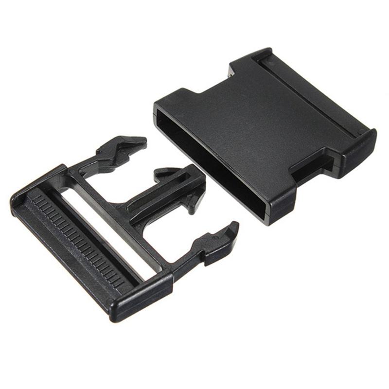 10 Stueck Plastikschnallen Clips Paracord fuer Paracord Armband schwarze Ar Z3P9